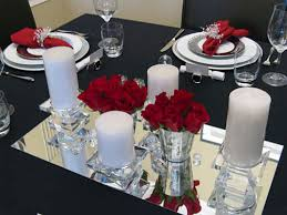Christmas Table Decorations Blue And Silver by Christmas Table Decorating With Red White Silver And Crystal
