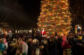 christmas tree house holiday open house petoskey downtown