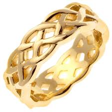 mens celtic wedding rings 14k yellow gold infinity knot celtic band 7mm 3001408 shop at