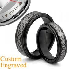 titanium celtic wedding bands black matching celtic titanium rings set wedding bands size 3 18