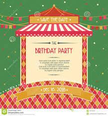Birthday Party Cards Invitations Birthday Party Celebration Card Invitation Vector Illustration