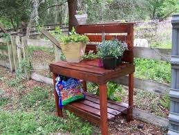 Garden Potting Bench Wood Pallet Potting Benches Pallet Ideas Recycled Upcycled