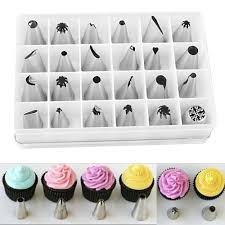 24 pcs lot stainless steel piping nozzle pastry tube fondant cake