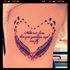 feather with quote search tattoos