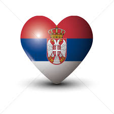 Flag Of Serbia Heart Shaped Serbia Flag Vector Image 1626452 Stockunlimited