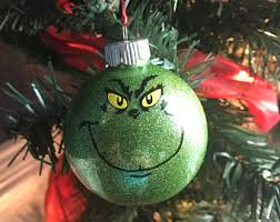 grinch ornaments etsy