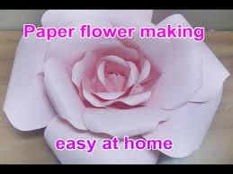 Paper Flowers Video - how to handmade paper flower rose tutorial u0027natural rose u0027 step by