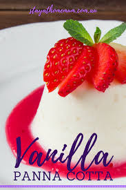 vanilla panna cotta stay at home mum