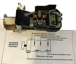 headlight switch wiring trifive com 1955 chevy 1956 chevy 1957