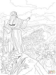 moses parting the red sea coloring page israelites crossing the