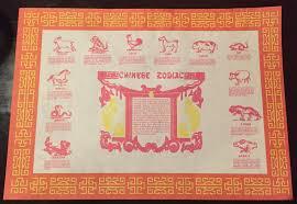 zodiac placemat zodiac placemat memoirs of a slacer