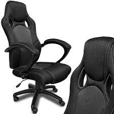 fauteuil siege baquet fauteuil de bureau noir en type racing achat vente