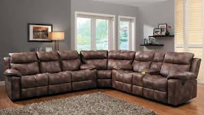 Contemporary Microfiber Sofa Living Room Leather Recliner Sectional Reclining Sofa Power With