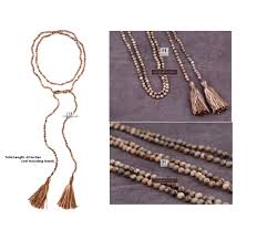 long beaded tassel necklace images Extra long beaded tassel necklace 6mm picture jasper tassel jpg