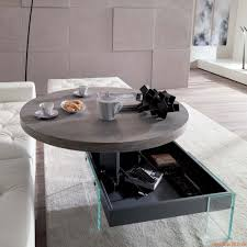 bellagio two height transformable coffee table in metal wooden