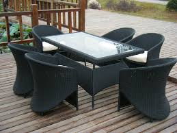 Wicker Patio Table And Chairs Black Wicker Dining Chairs Dans Design Magz Protect Resin