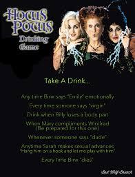 hocus pocus drinking game cheers pinterest drinking games