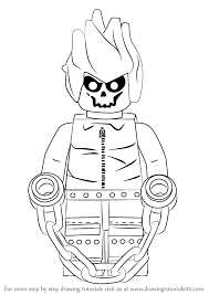 learn how to draw lego ghost rider lego step by step drawing