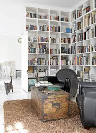 modern home library interior design home library design in minimalist white house with modern interior