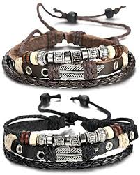 man wrist bracelet images Fibo steel leather charm bracelet for men braided jpg