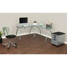 Office Desk Ls Studio Designs Futura Ls Glass Top Drafting Table Work Center