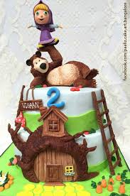 torta masha orso masha bear cake torte cakes