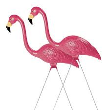 sculptural gardens pink flamingo lawn ornament pair in