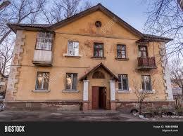 old soviet two storey houses built image u0026 photo bigstock