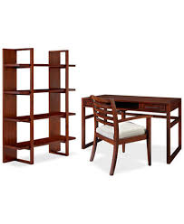 battery park 3 piece home office furniture set with open bookcase