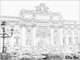 rome trevi fountain 390 11a cpf 1007 coloring pages printable