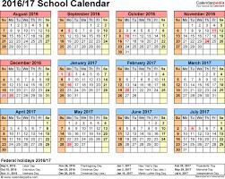 academic calendar template 2017 16 template