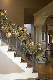 How To Decorate A Banister Gold Christmas Decoration Ideas Christmas Celebrations