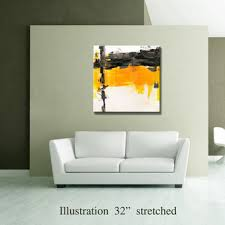 original home decor 36 quot yellow gray black original from editvorosart on etsy