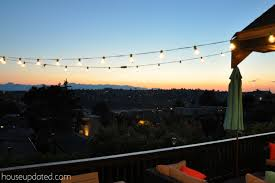 hanging outdoor string lights how to hang outdoor string lights outdoor decorating inspiration 2018