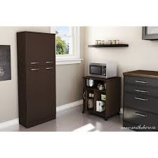 Microwave Cart With Drawer Fiesta Contemporary Microwave Cart Chocolate Kitchen Islands