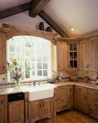 farmhouse style kitchen with oak cabinets oak cupboards and farm sink rustic kitchen sinks rustic