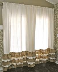 Burlap Home Decor Ideas Decorating No Sew Burlap Curtains With Lace For Pretty Home
