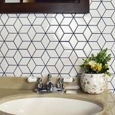 somertile 10 5x12 125 inch victorian rhombus glossy white