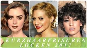 Kurzhaarfrisuren Mit Locken by Kurzhaarfrisuren Locken 2017