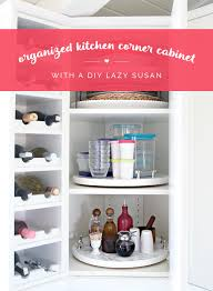 Kitchen Cabinet Lazy Susan Iheart Organizing Organized Kitchen Corner Cabinet With A Diy