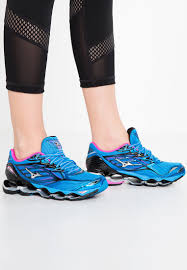 mizuno wave prophecy 6 neutral running shoes diva blue silver