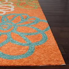 Indoor Outdoor Patio Rugs by Jaipur Rugs Catalina Blossomed 2 X 3 Indoor Outdoor Rug Orange