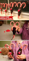 simple holiday kids crafts candy cane reindeer one hundred
