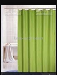 Shower Curtain Sale Waterfall Plain Green Polyester Washable Shower Curtain Sale With