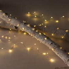led string lights in copper or silver finishes vivaterra