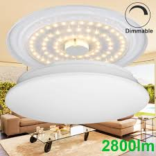 flush ceiling lights living room le dimmable 40w 19 3 inch led flush mount ceiling light fixtures