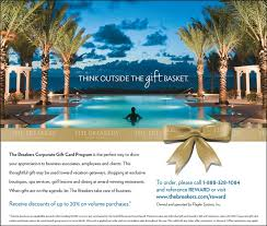 corporate gift cards hotel marketing for the breakers palm hospitality