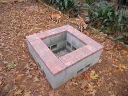 Block Firepit Cement Block Pit Pit Ideas