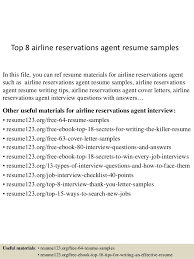 Resume For Airline Jobs by Top 8 Airline Reservations Agent Resume Samples 1 638 Jpg Cb U003d1437109586