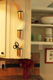 versatile and chic diy copper cup leather kitchen organizer